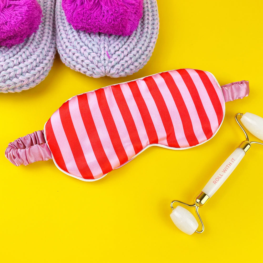 Candy Stripe Sleep Mask