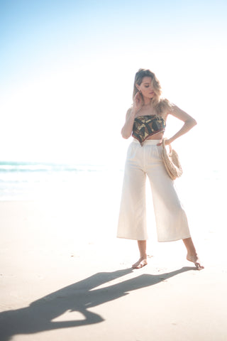 BELEN FLARE PANT IN CREME