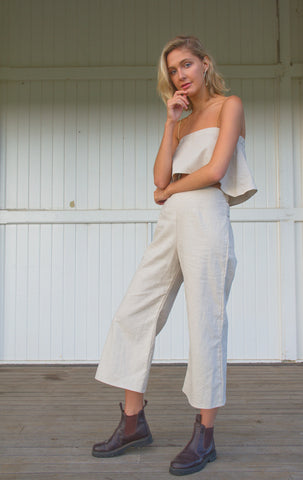 IVY CROP PANT IN NATURAL