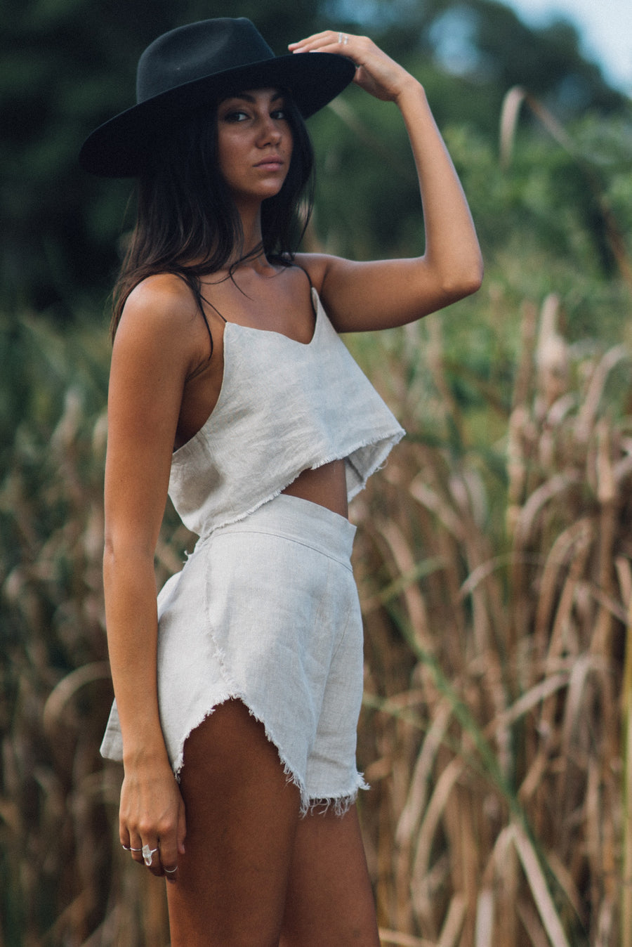 RUBY WRAP SHORTS - NATURAL