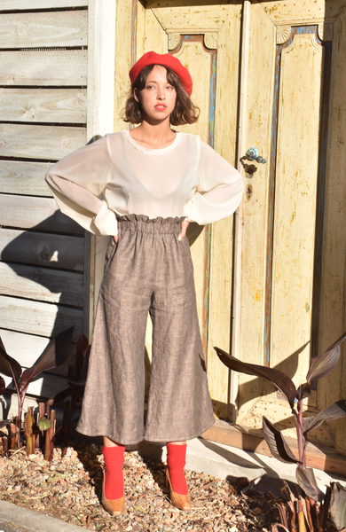 LOUIE CROP FLARE PANT IN MOCHA