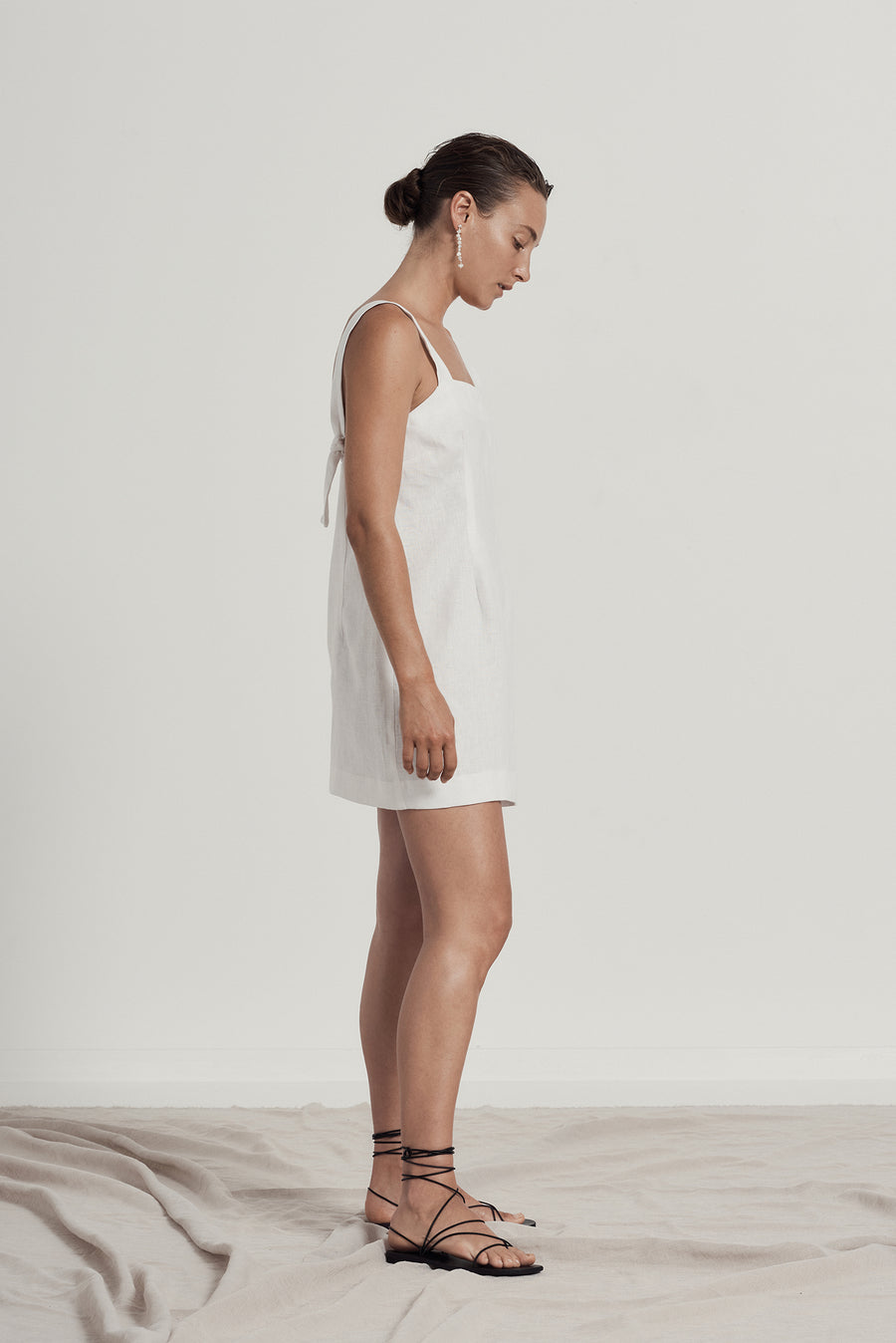 ALEXA SLIP DRESS - WHITE