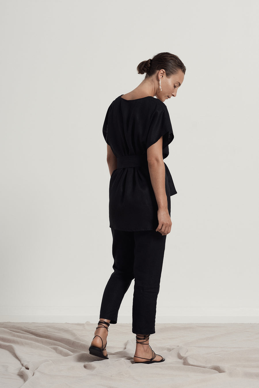 FREDDIE TAILORED PANT - BLACK