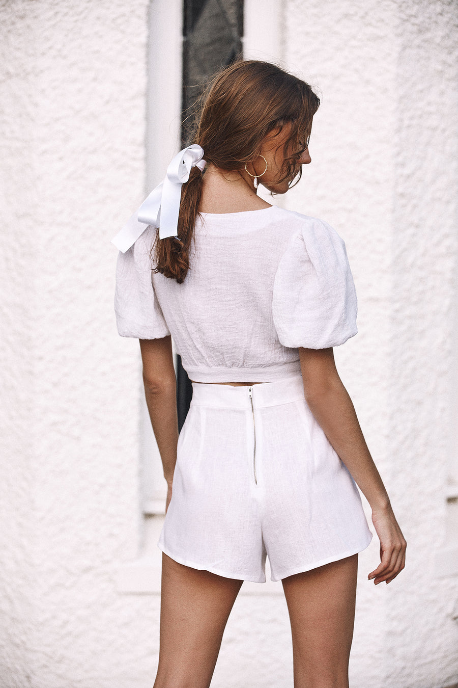 HARPER SHORTS IN WHITE