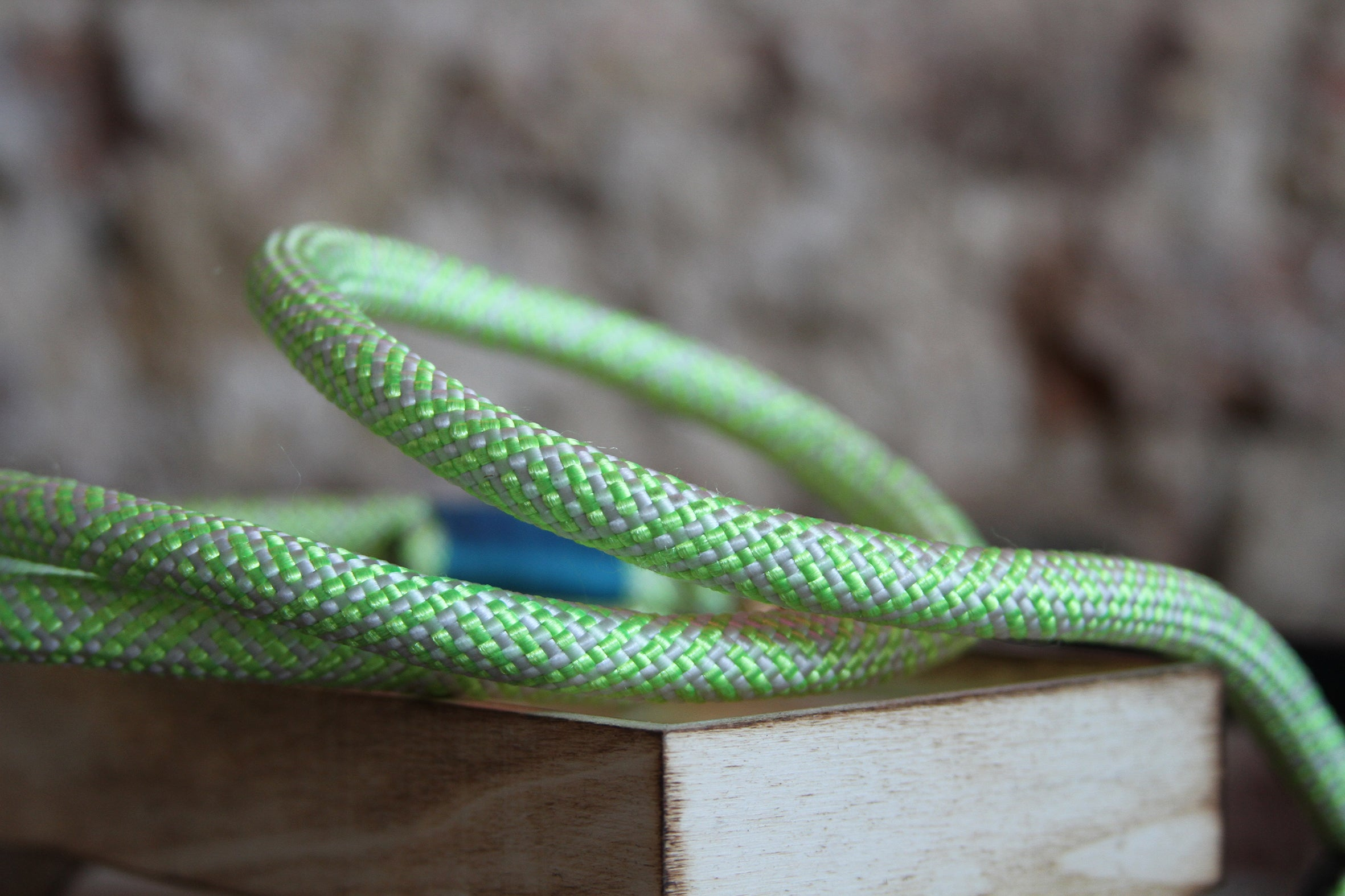 Christie Climbing Rope Leash - Grass Neon