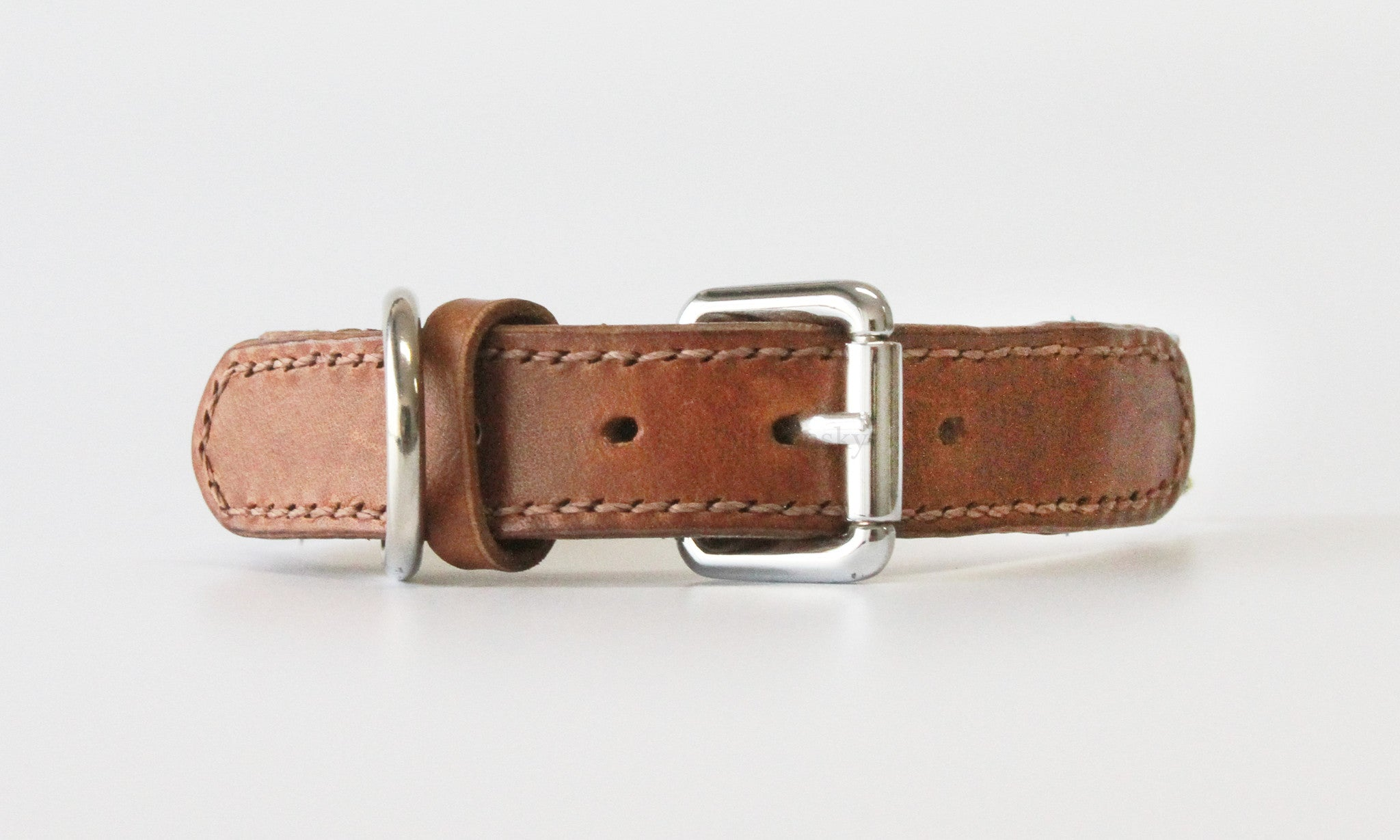 Madison Madras Leather Collar
