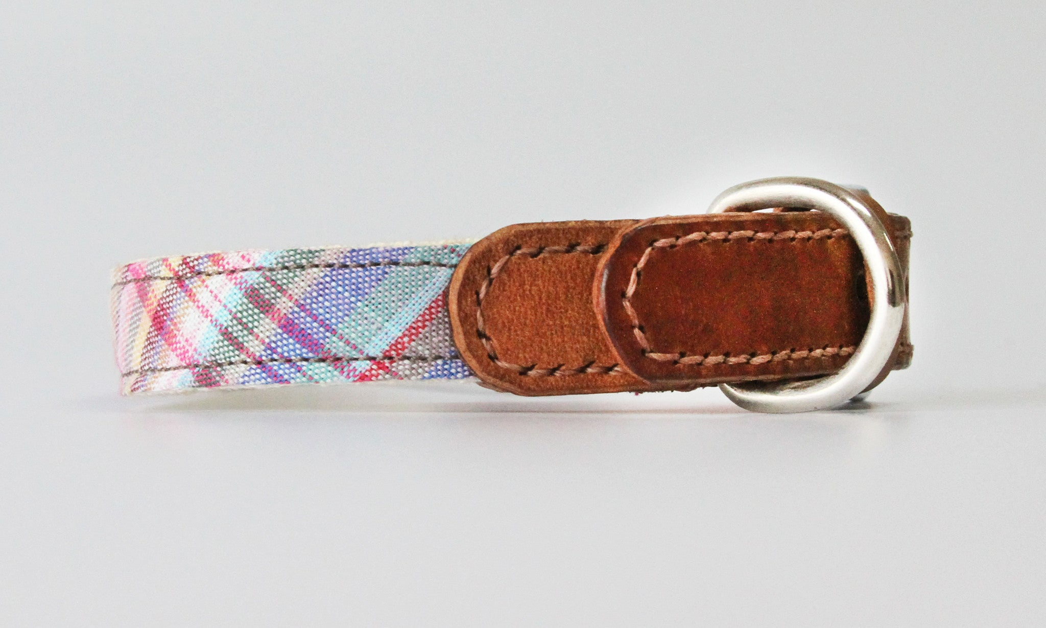 Marley Madras Leather Collar