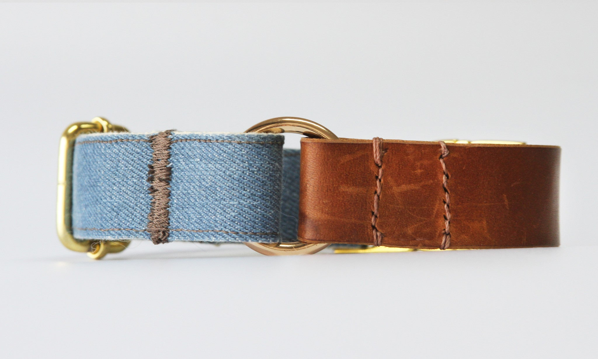 Mason Denim Leather Collar