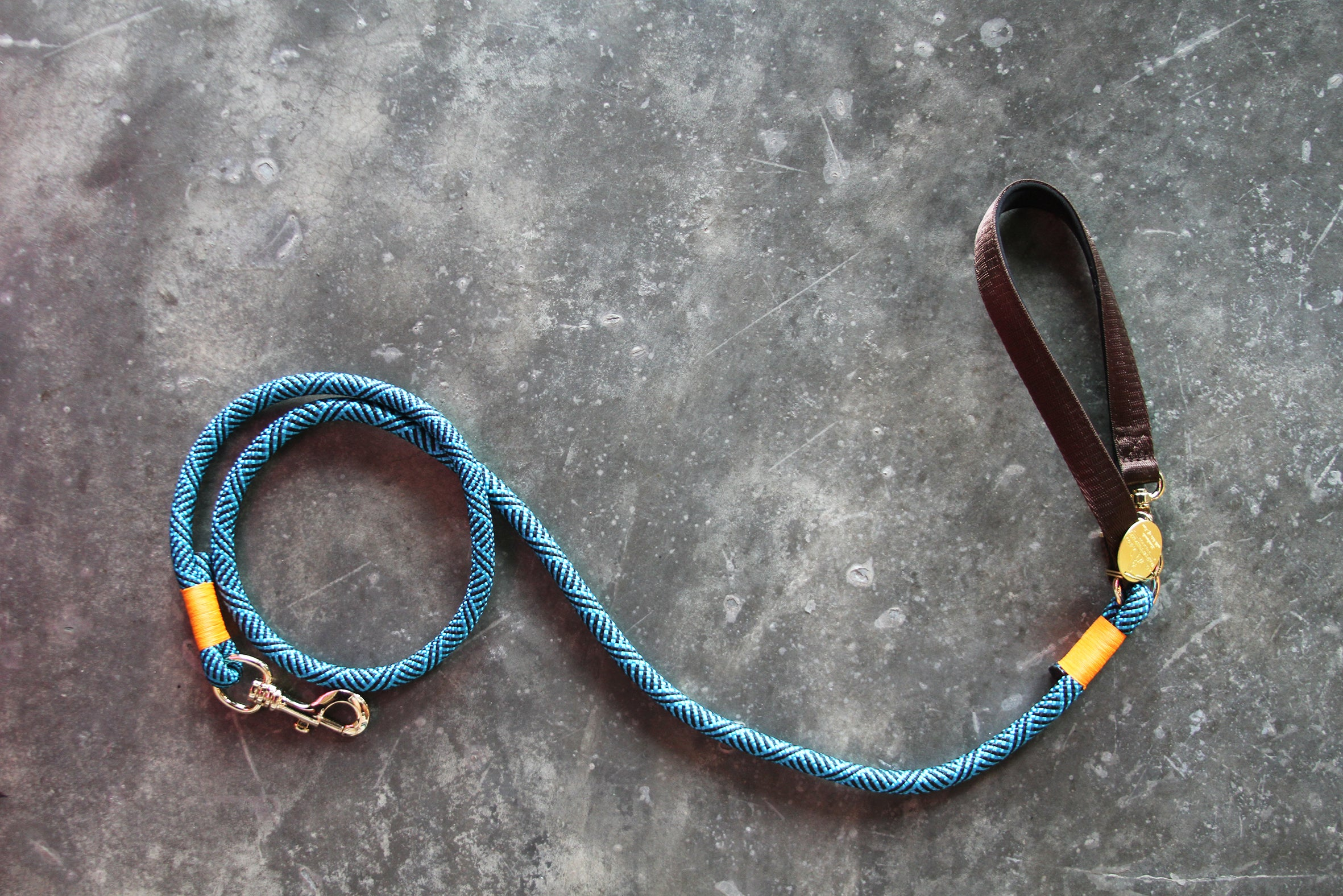 Christie Climbing Rope Leash - Track Blue