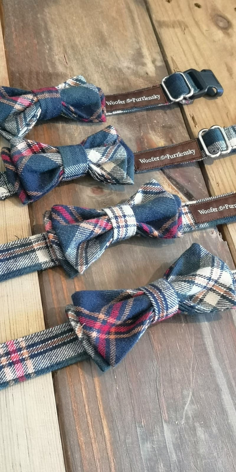 Benedict Fancy Bow Collar - Parisian Plaids