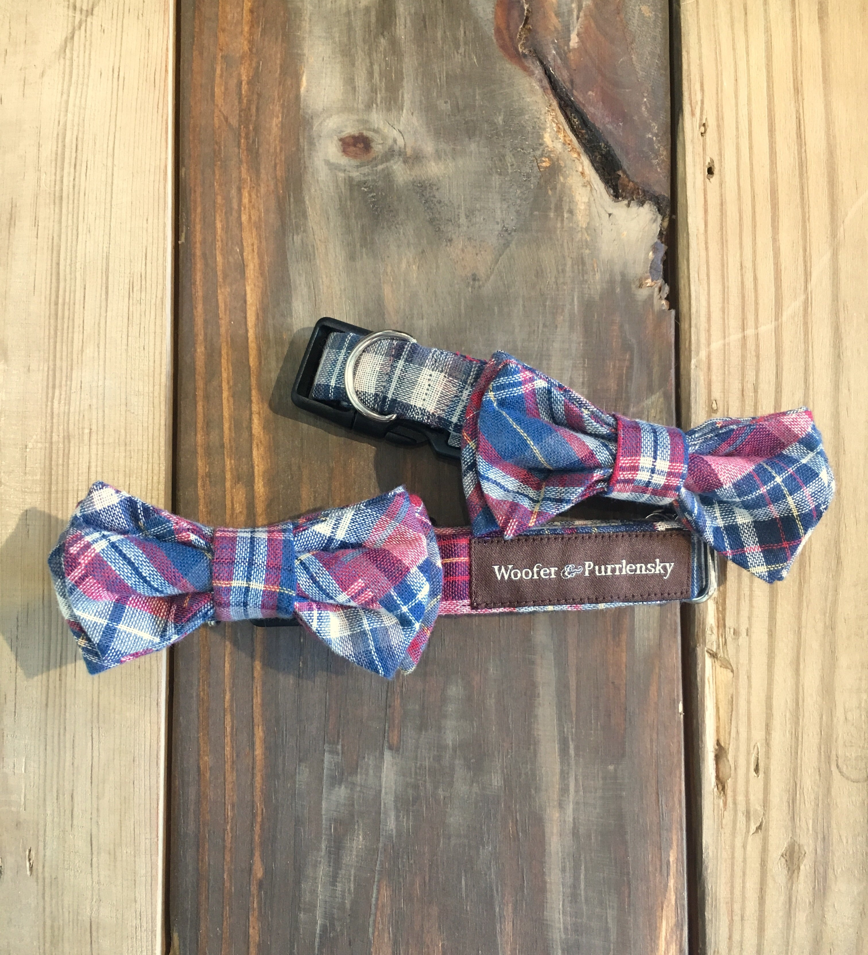 Benedict Patchwork Bow Collar - Spruce