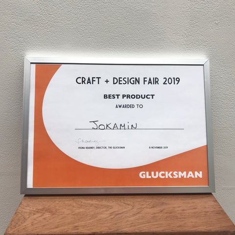 Jokamin awarded the best product at the Glucksman Craft & Design Fair 2019!!!