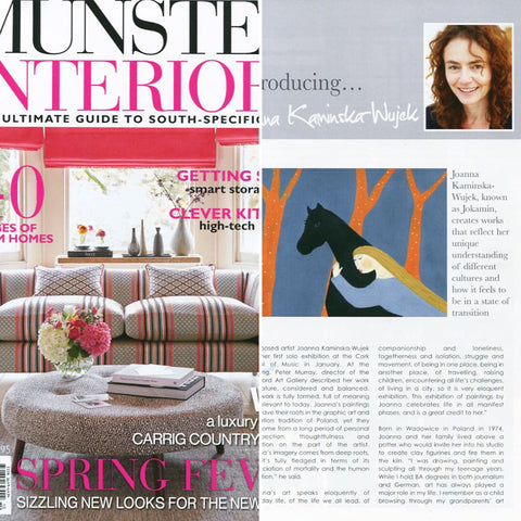 Artist feature in Munster Interiors magazine Spring 2016