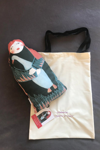 Departures Arrivals - shaped cushion Art doll - Jokamin