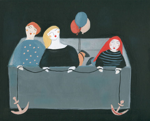 Three Sisters on Life Support Mission Fine art giclee prints - Jokamin