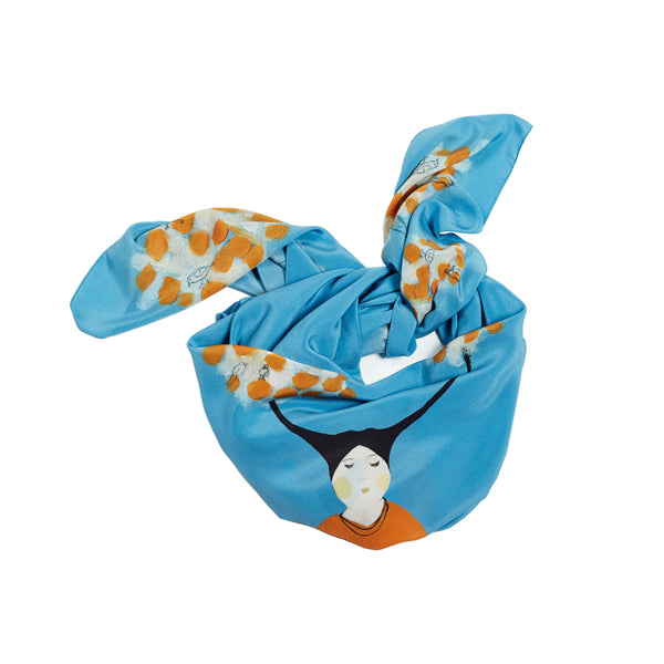 Morning song -  silk scarf scarves - Jokamin