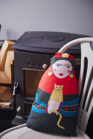 Frida cushion Art doll - Jokamin