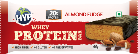 HYP Protein Bar - Almond Fudge (Box of 6 Bars)