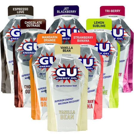 GU Energy Gel - Assorted Flavours Box - 24 Count