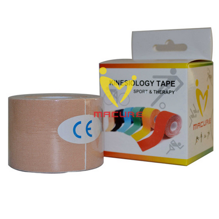 Macure Sports Kinesiology KT Tape - 5cm x 5m Roll - Beige