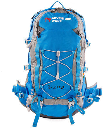 AdventureWorx Xplore 45 Rucksack/Backpack with AerWire Tech - Blue