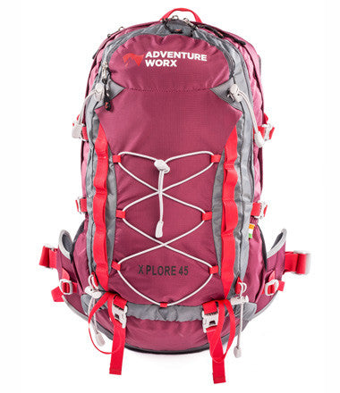 AdventureWorx Xplore 45 Rucksack/Backpack with AerWire Tech - Red