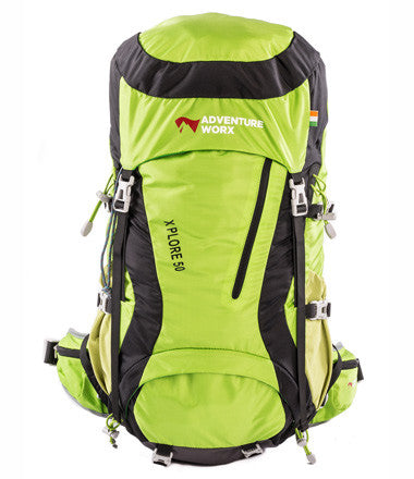 AdventureWorx Explore 50 Rucksack/Backpack with AerWire Tech - Green