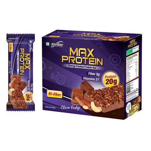Rite Bite - Max Protein Bar - Choco Fudge - Pack of 6