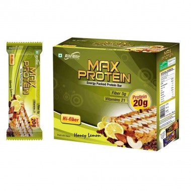 Rite Bite - Max Protein Bar - Honey Lemon - Pack of 6