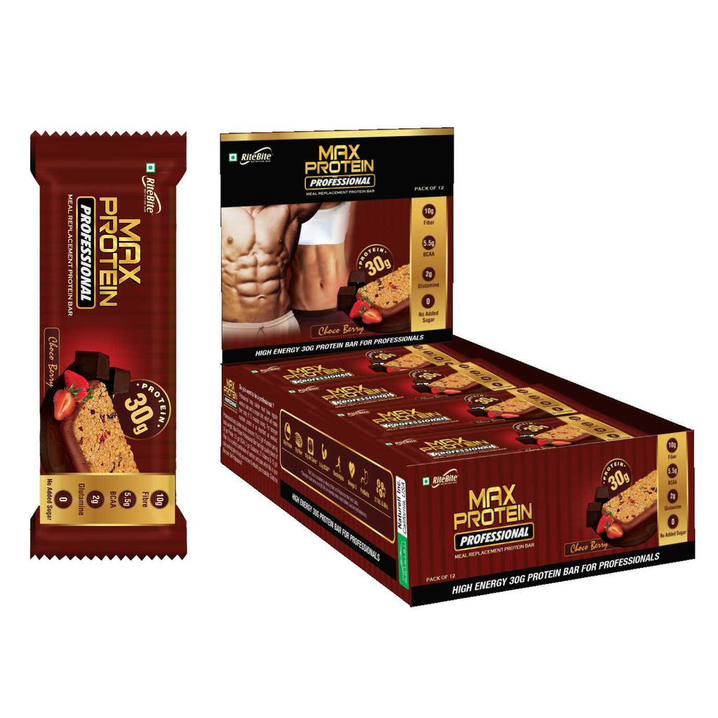 Rite Bite - Max Protein Professional Bar - Choco Berry - Pack of 12