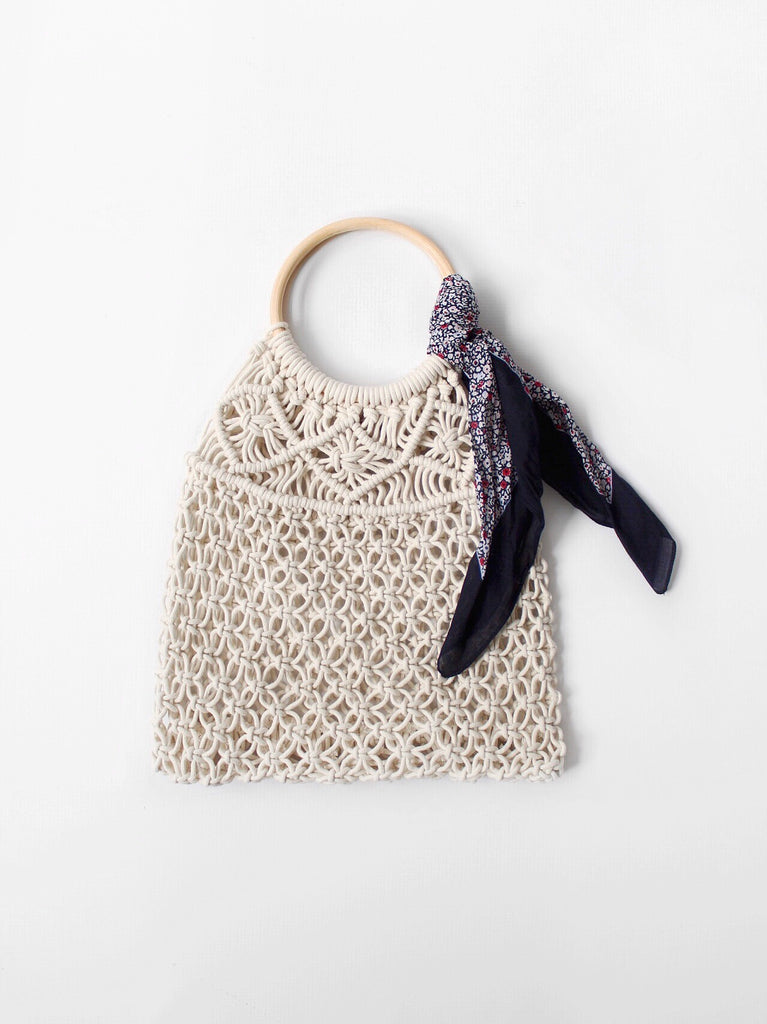 The Macrame Woven Bag in Natural