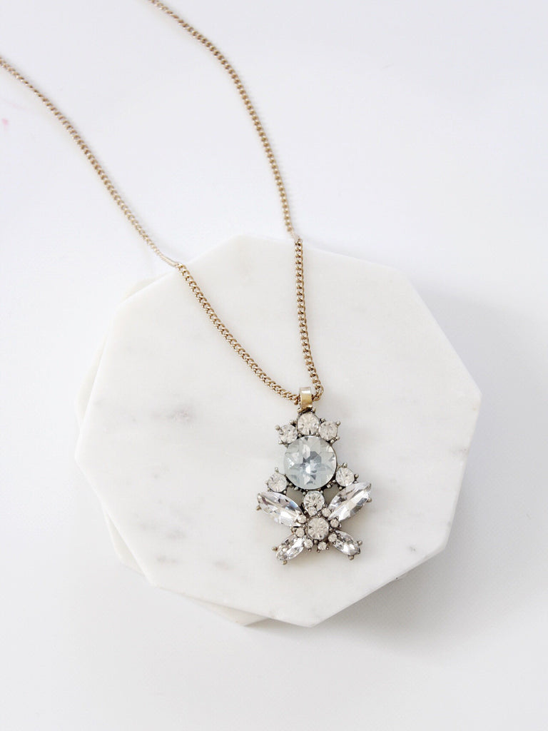 The Crystal Cluster Pendant Necklace - The Simple Seam