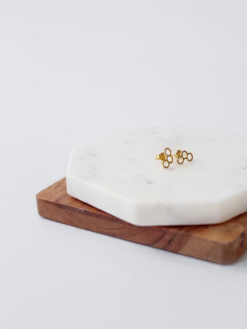 The Mini Honeycomb Stud Earring