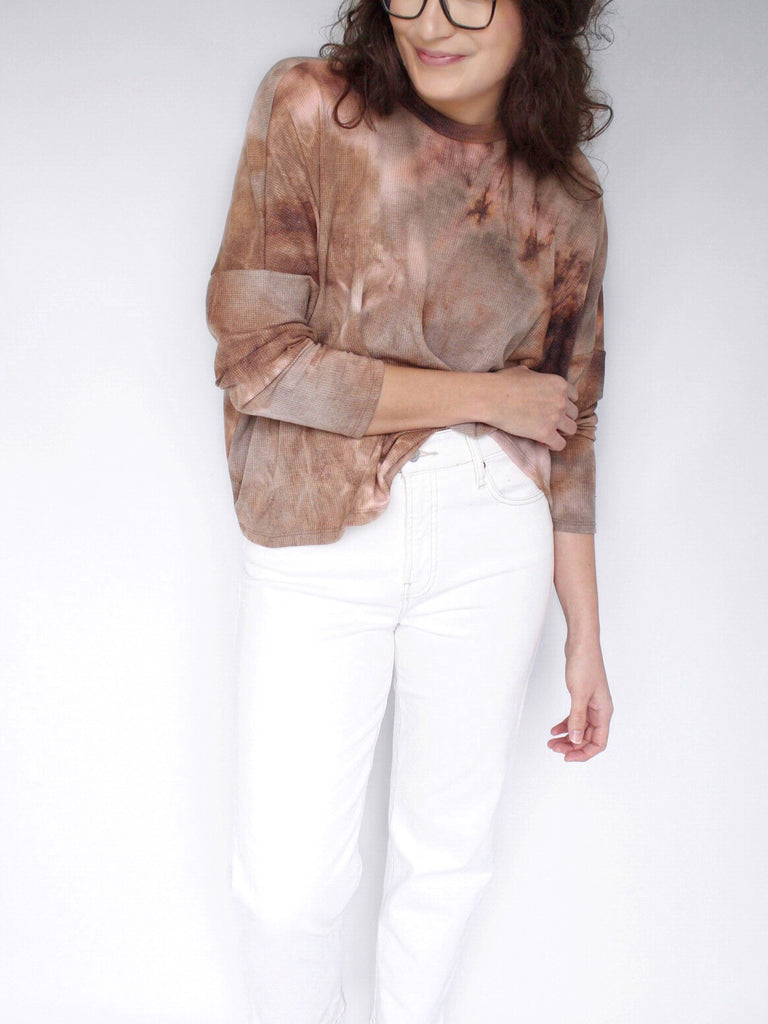 The Skylar Tie-Dye Slouch Tee in Ginger