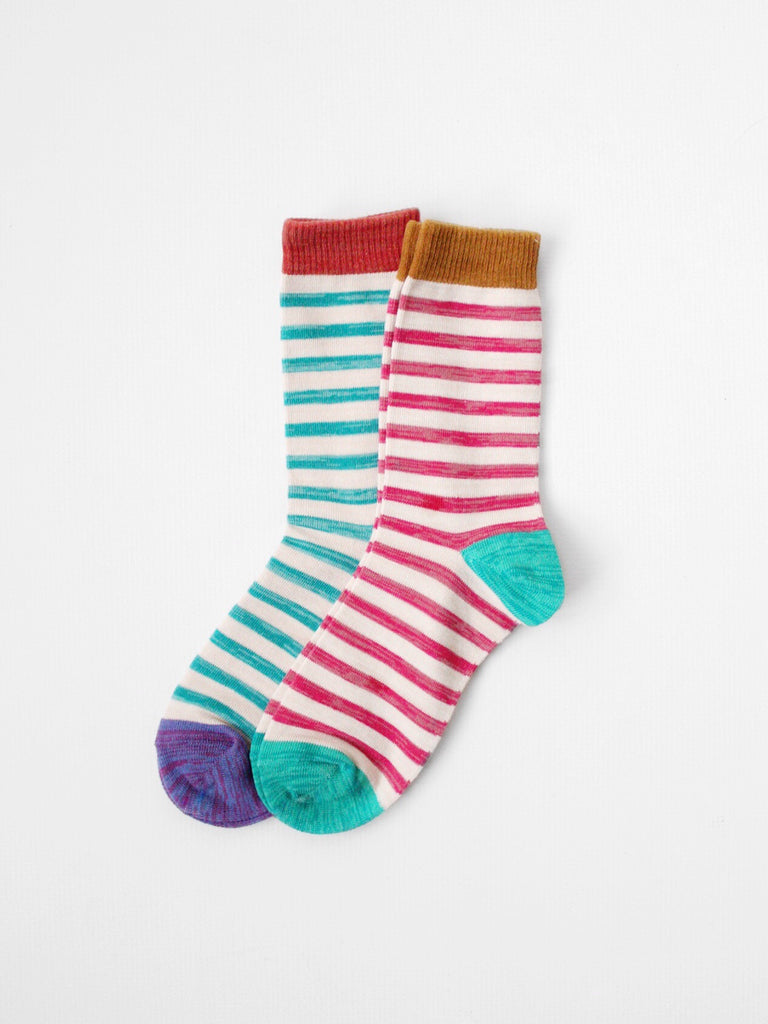 The Multi-Color Striped Trouser Sock