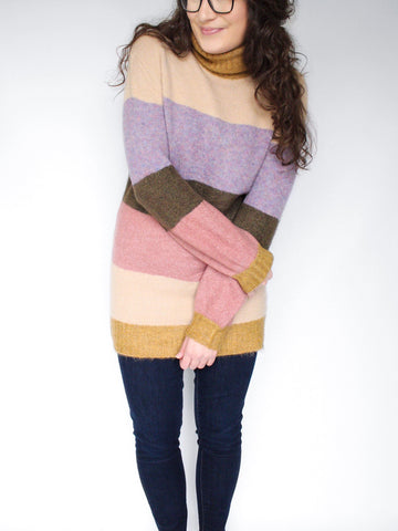 The Madelyn Color-Blocked Sweater Tunic