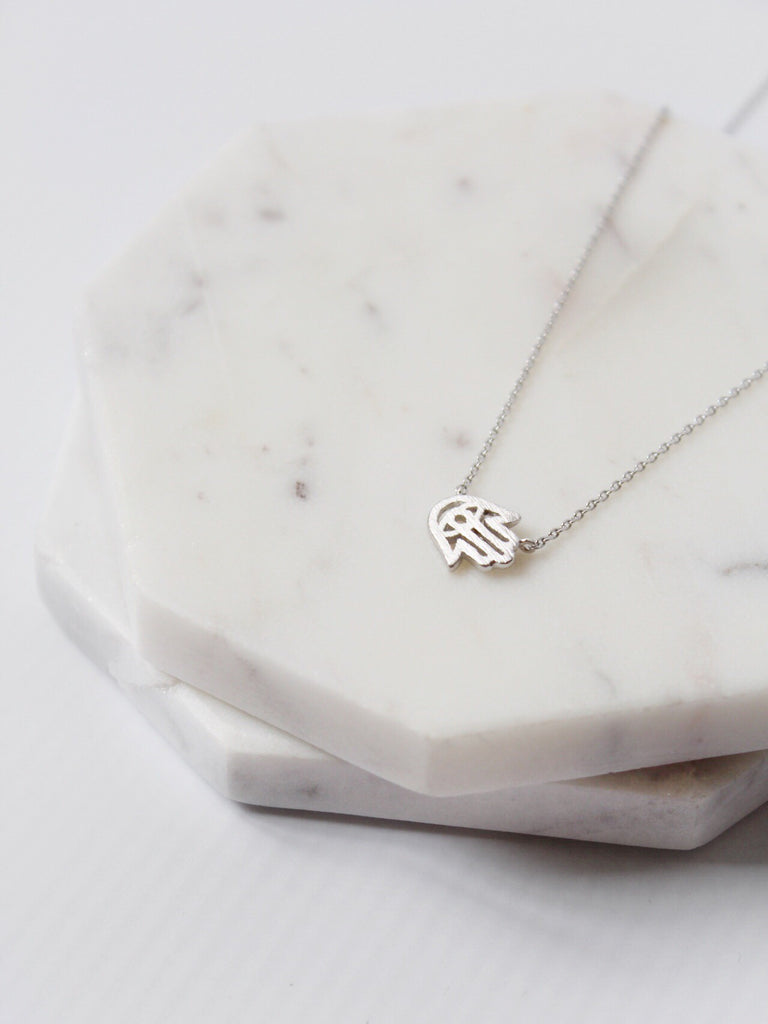 The Dainty Hand of Fatima Necklace Gold/Silver - The Simple Seam