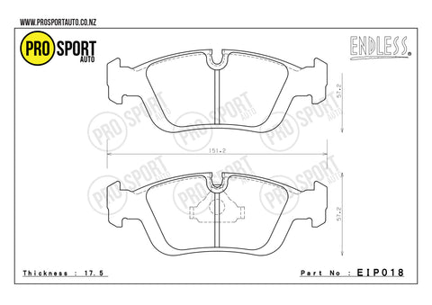ENDLESS EIP018 Brake Pads