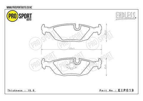 ENDLESS EIP019 Brake Pads