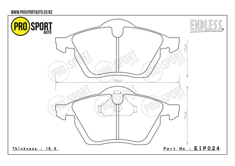 ENDLESS EIP024 Brake Pads