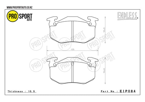 ENDLESS EIP084 Brake Pads