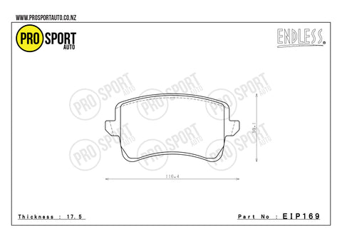ENDLESS EIP169 Brake Pads