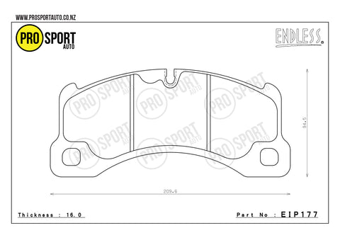 ENDLESS EIP177 Brake Pads