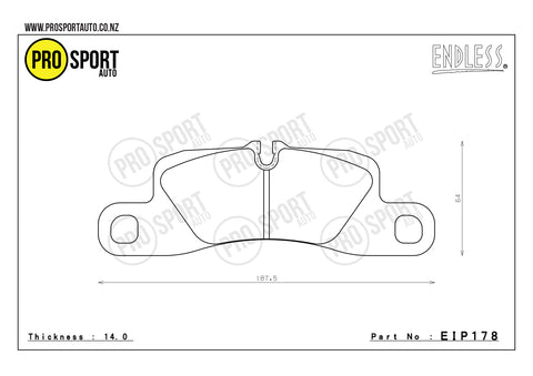 ENDLESS EIP178 Brake Pads