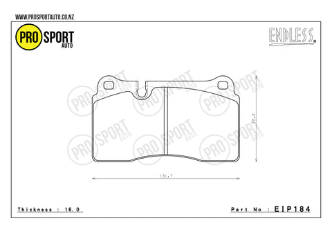 ENDLESS EIP184 Brake Pads