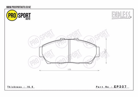 ENDLESS EP307 Brake Pads
