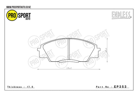 ENDLESS EP353 Brake Pads