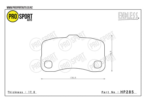 ENDLESS HP285 Brake Pads