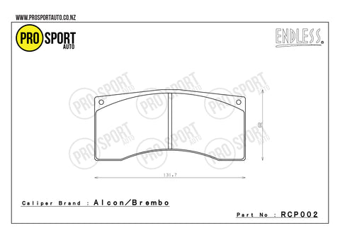 ENDLESS RCP002 Brake Pads
