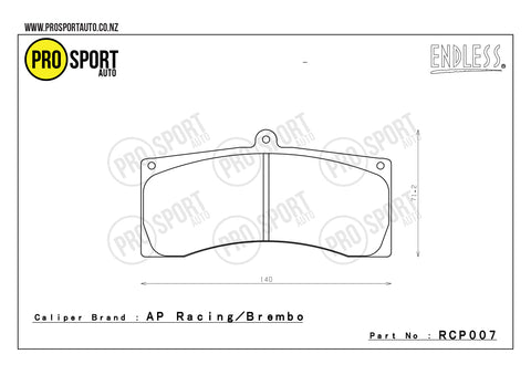ENDLESS RCP007 Brake Pads